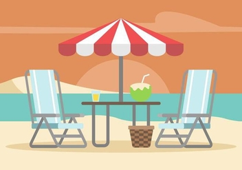 Lawn Chair Illustration - Free vector #446041