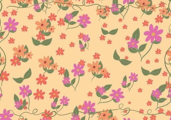 FLoral Ditsy Vector - Free vector #446071