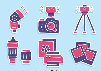 Nice Camera Element Icons Vector - Kostenloses vector #446091