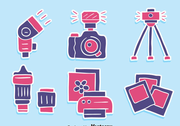 Nice Camera Element Icons Vector - vector gratuit #446091