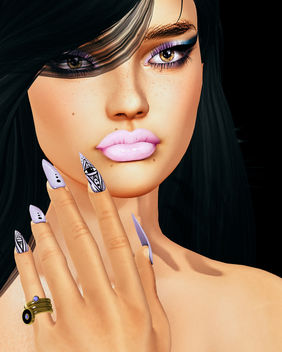 Karma Mesh Nails by SlackGirl @ Applique - Free image #446141