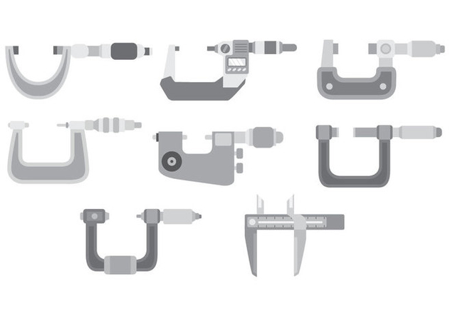 Micrometer Icon Set - vector #446271 gratis