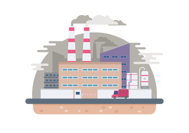 Industrial Factory Illustration - vector #446361 gratis