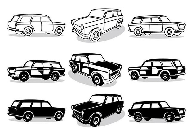 Fiat Station Wagon - vector gratuit #446371