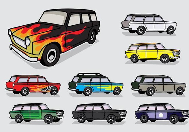 Station Wagon Colour Custom Vector - vector gratuit #446381