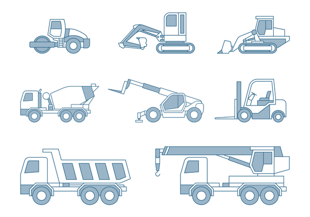 Construction Cars - Kostenloses vector #446391