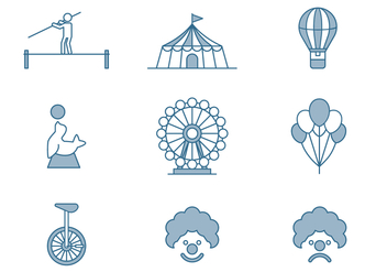 Circus Icons - Free vector #446401