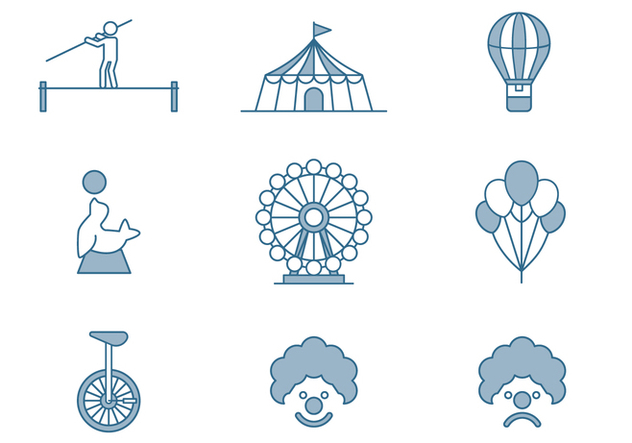Circus Icons - vector gratuit #446401