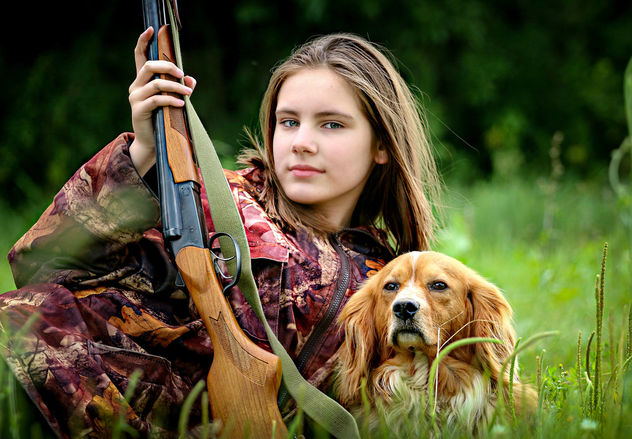 A hunting girl - Free image #447261