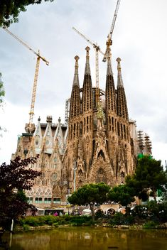 Fasade of La Sagrada Familia in Barcelona - Free image #449561