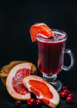Hot Grapefruit And Cranberry Drink.jpg - image #450371 gratis