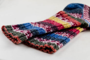 Colorful knitted socks - image #450421 gratis