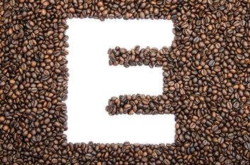 Alphabet of coffee beans - бесплатный image #451891