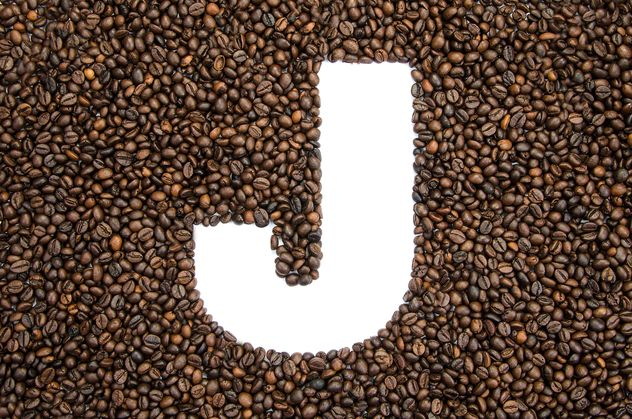 Alphabet of coffee beans - image gratuit #451901