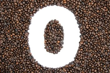 Alphabet of coffee beans - бесплатный image #451911