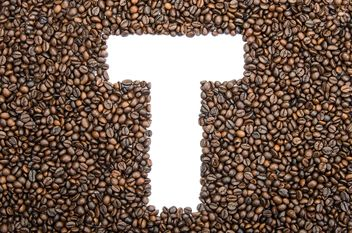 Alphabet of coffee beans - Free image #451921