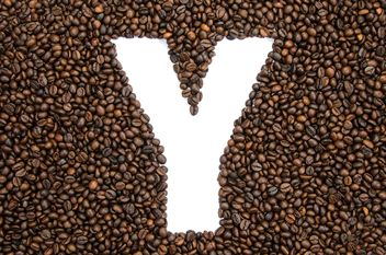 Alphabet of coffee beans - image gratuit #451931