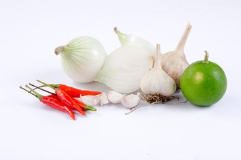 vegetables on white background - Free image #452601