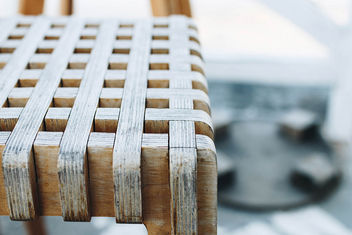 Detail of wooden chair. Close up. - Free image #453301