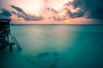 The Sunset - Maldives - Seascape photography - Kostenloses image #455481