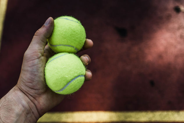 Tennis Balls in the Hand - Free image #456071