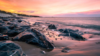 Sunset on the beach - Stonehaven, Scotland - Seascape photography - Free image #456401