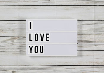 Lightbox: I love you - Kostenloses image #456781
