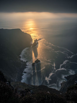 Slieve League at sunset - Donegal, Ireland - Seascape photography - image gratuit #457311
