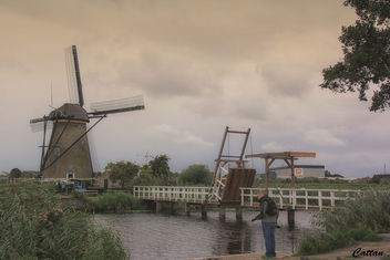 Holland - windmills of Kinderdijk - image #457461 gratis