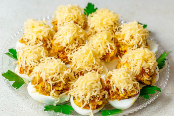Stuffed eggs with cheese - Free image #457611