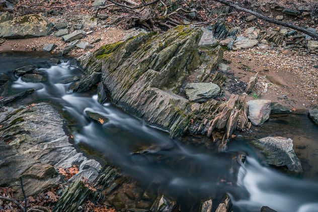 Croydon Creek Meandering Through its Rocks - Free image #459321