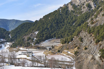 Ice covered fields near Ordino - image #459401 gratis