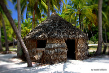 Traditional Melanesian hut in Isle of Pines in New Caledonia by iezalel williams - IMG_2642 - Canon EOS 700D - Kostenloses image #461811