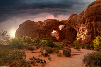 Arches National Park - Sun Rain Lightning - Kostenloses image #473161